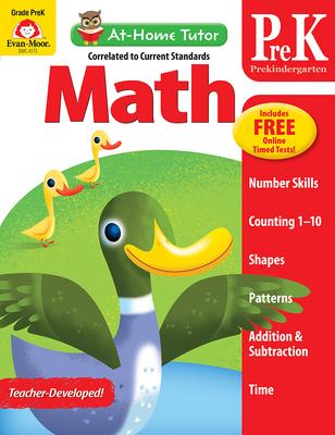 At Home Tutor Math, Grade Pre-K (At-Home Tutor) Cover Image