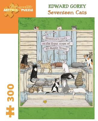 Seventeen Cats 300-Piece Jigsaw Puzzle (Pomegranate Artpiece Puzzle) Cover Image