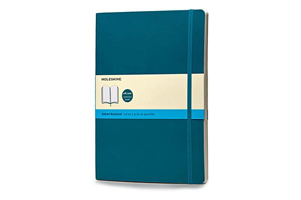 Moleskine Classic Colored Notebook, Extra Large, Dotted, Underwater Blue, Soft Cover (7.5 x 10) Cover Image