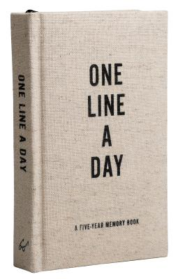 Canvas One Line a Day: A Five-Year Memory Book (Yearly Memory Journal and Diary, Natural Canvas Cover) Cover Image