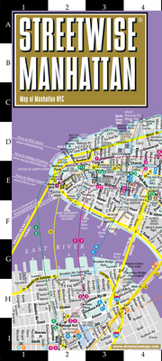 Streetwise Manhattan Map - Laminated City Center Street Map of Manhattan, New York (Michelin Streetwise Maps) Cover Image