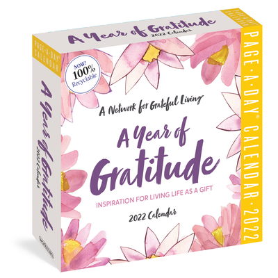 A Year of Gratitude Page-A-Day Calendar 2022: A Network for Grateful Living Cover Image