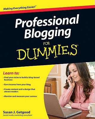 Professional Blogging for Dummies Cover