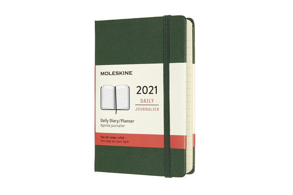 Moleskine 2021 Daily Planner, 12M, Pocket, Myrtle Green, Hard Cover  (3.5 x 5.5) Cover Image
