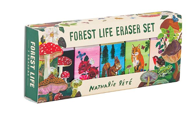Forest Life Eraser Set: (Cute Office Supplies, Cute Desk Accessories, Back to School Supplies) Cover Image