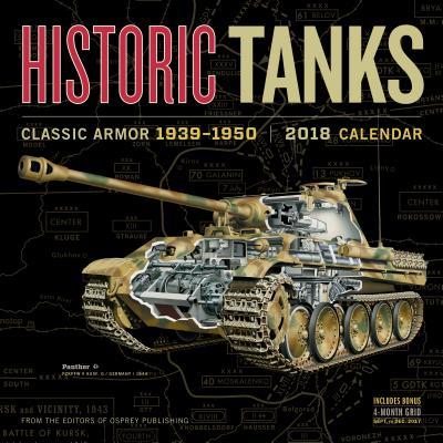 Historic Tanks Wall Calendar 2018 Cover Image