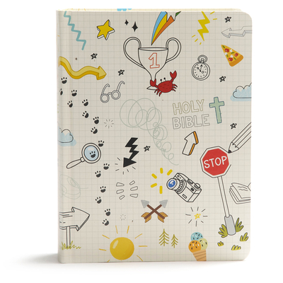 Cover for CSB Journal and Draw Bible for Kids, White