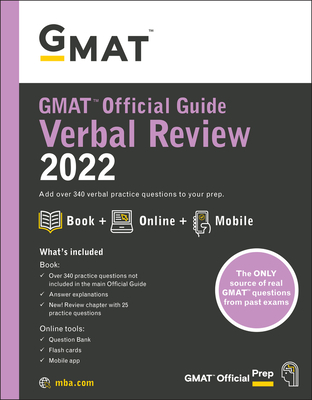 Cover for GMAT Official Guide Verbal Review 2022