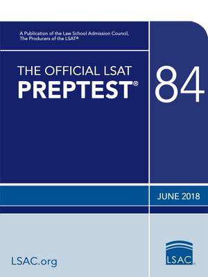 The Official LSAT Preptest 84: June 2018 LSAT Cover Image