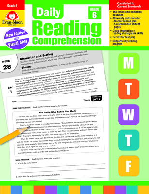 Daily Reading Comprehension, Grade 6 Cover Image