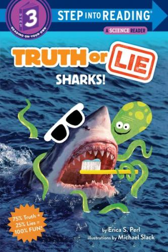 Truth or Lie: Sharks! (Step into Reading) Cover Image