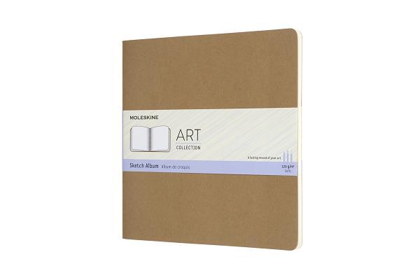Moleskine Art Cahier, Sketch Album, Square, Kraft Brown (7.5 x 7.5) Cover Image