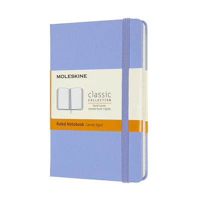 Moleskine Classic Notebook, Pocket, Ruled, Hydrangea Blue, Hard Cover (3.5 X 5.5) Cover Image