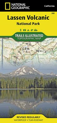 Lassen Volcanic National Park (National Geographic Trails Illustrated Map #268) Cover Image