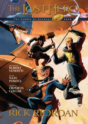 The Heroes of Olympus, Book One The Lost Hero: The Graphic Novel Cover Image