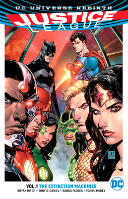 Justice League, Volume 1: The Extinction Machines (Rebirth) Cover Image