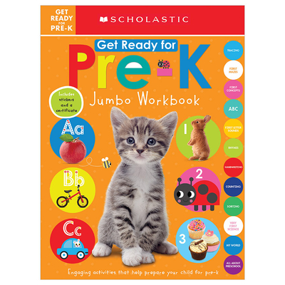 Get Ready for Pre-K Jumbo Workbook: Scholastic Early Learners (Jumbo Workbook) Cover Image