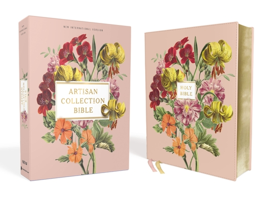 Niv, Artisan Collection Bible, Leathersoft, Blush Floral, Red Letter Edition, Comfort Print Cover Image