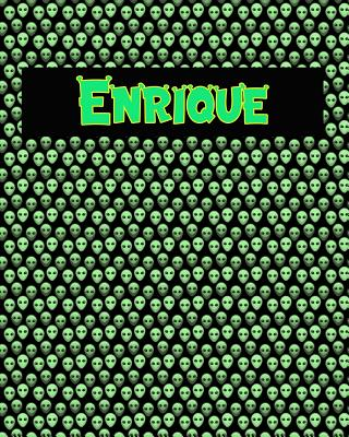 120 Page Handwriting Practice Book with Green Alien Cover Enrique: Primary Grades Handwriting Book Cover Image