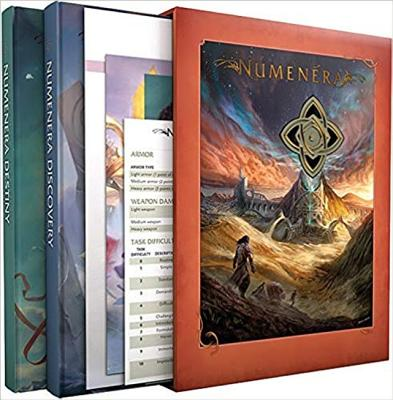 Numenera Discovery Destiny Slipcase [With Medallion and Play AIDS and Map] Cover Image