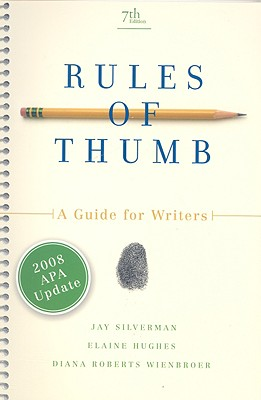 Rules of Thumb: A Guide for Writers Cover Image