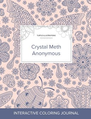 Adult Coloring Journal: Crystal Meth Anonymous (Turtle Illustrations, Ladybug) Cover Image