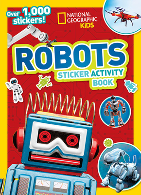 National Geographic Kids Robots Sticker Activity Book Cover Image