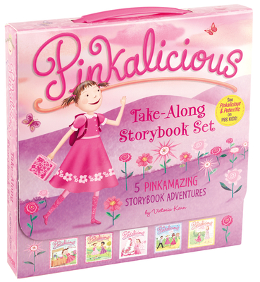 The Pinkalicious Take-Along Storybook Set: Tickled Pink, Pinkalicious and the Pink Drink, Flower Girl, Crazy Hair Day, Pinkalicious and the New Teacher Cover Image
