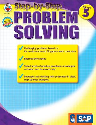Step-By-Step Problem Solving, Grade 5 (Singapore Math) Cover Image