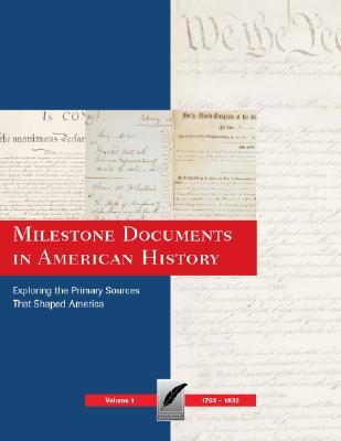 Cover for Milestone Documents in American History