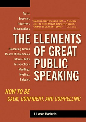 The Elements of Great Public Speaking Cover
