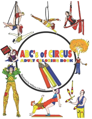 ABC's of Circus Adult Coloring Book Cover Image