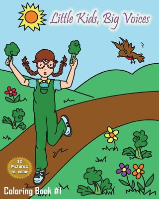 Little Kids, Big Voices Coloring Book #1 Cover Image