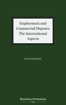 Employment and Commercial Disputes: The International Aspects Cover Image