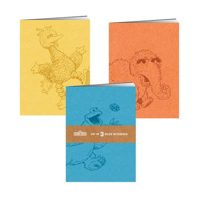Sesame Street Notebooks: Set of 3 Ruled Notebooks Cover Image