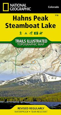 Hahns Peak, Steamboat Lake (National Geographic Maps: Trails Illustrated #116) Cover Image