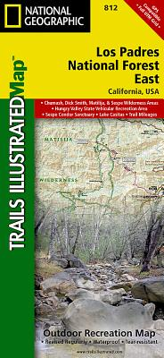 Los Padres National Forest East (National Geographic Trails Illustrated Map #812) Cover Image