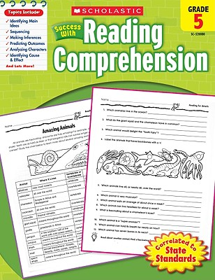 Scholastic Success With Reading Comprehension: Grade 5 Workbook Cover Image