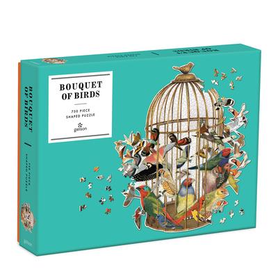 Bouquet of Birds 750 Piece Shaped Puzzle Cover Image
