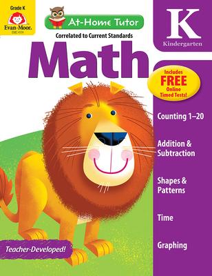 At Home Tutor Math, Grade K (At-Home Tutor) Cover Image