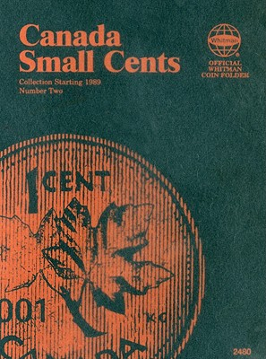 Canada Small Cents Collection Starting 1989 Number Two (Official Whitman Coin Folder) Cover Image