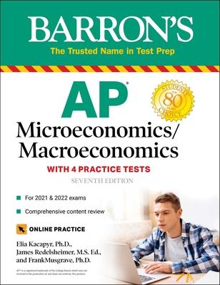 AP Microeconomics/Macroeconomics with 4 Practice Tests Cover Image