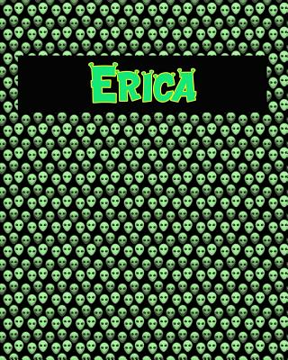120 Page Handwriting Practice Book with Green Alien Cover Erica: Primary Grades Handwriting Book Cover Image