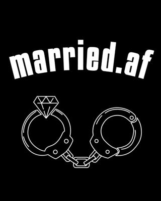 Married.af: Council Marriage Journal - Couple Anniversary Gift For Both - Blank Paperback 8 x 10, 200 Pages Cover Image