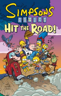Simpsons Comics Hit the Road! Cover