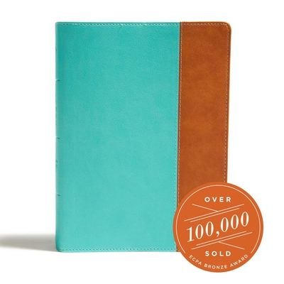 Cover for CSB Tony Evans Study Bible, Teal/Earth LeatherTouch, Indexed
