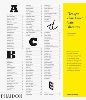 The Younger Than Jesus Artist Directory Cover