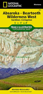 Absaroka-Beartooth Wilderness West [Gardiner, Livingston] (National Geographic Trails Illustrated Map #721) Cover Image