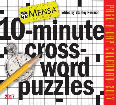 Cover for Mensa 10-Minute Crossword Puzzles Page-A-Day Calendar 2017