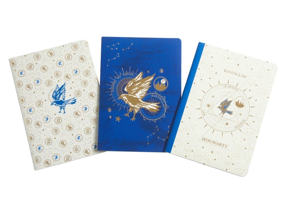 Harry Potter: Ravenclaw Constellation Sewn Notebook Collection (Set of 3) (Harry Potter: Constellation) Cover Image